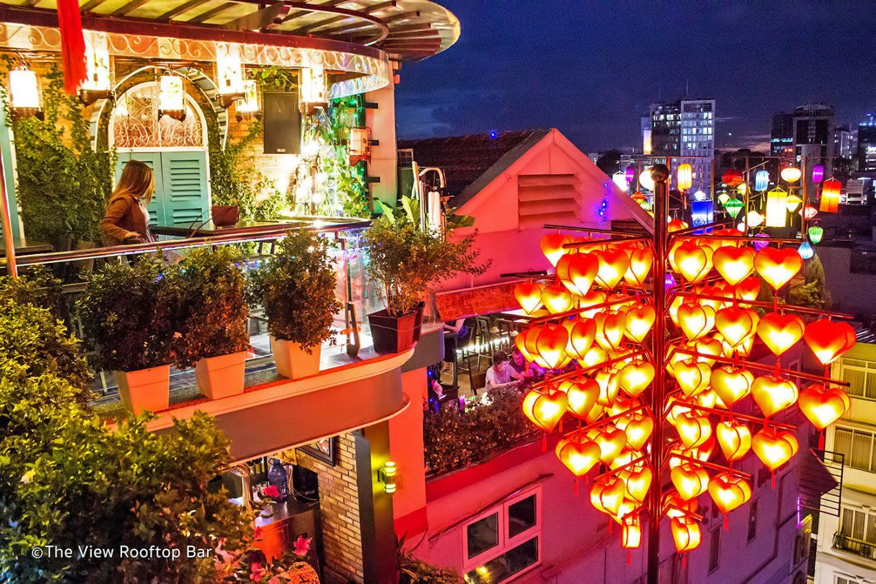 The View Rooftop Bar At The Duc Vuong Hotel Cheapest Rooftop Bar In Ho Chi Minh Rooftop Bar Best Rooftop Bars Rooftop