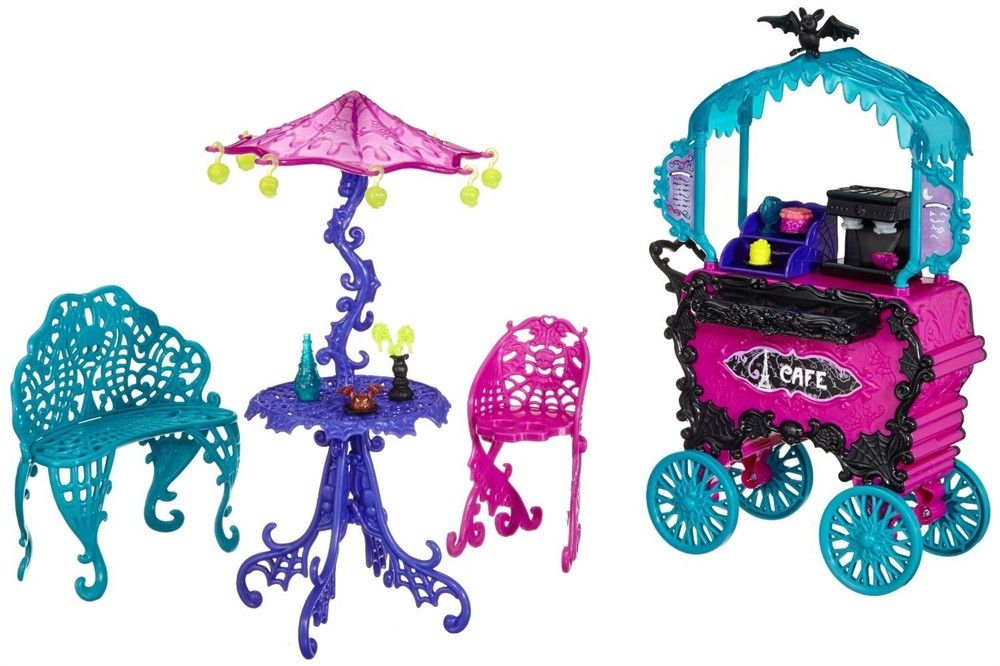 Monster High Travel Scaris Cafe Cart