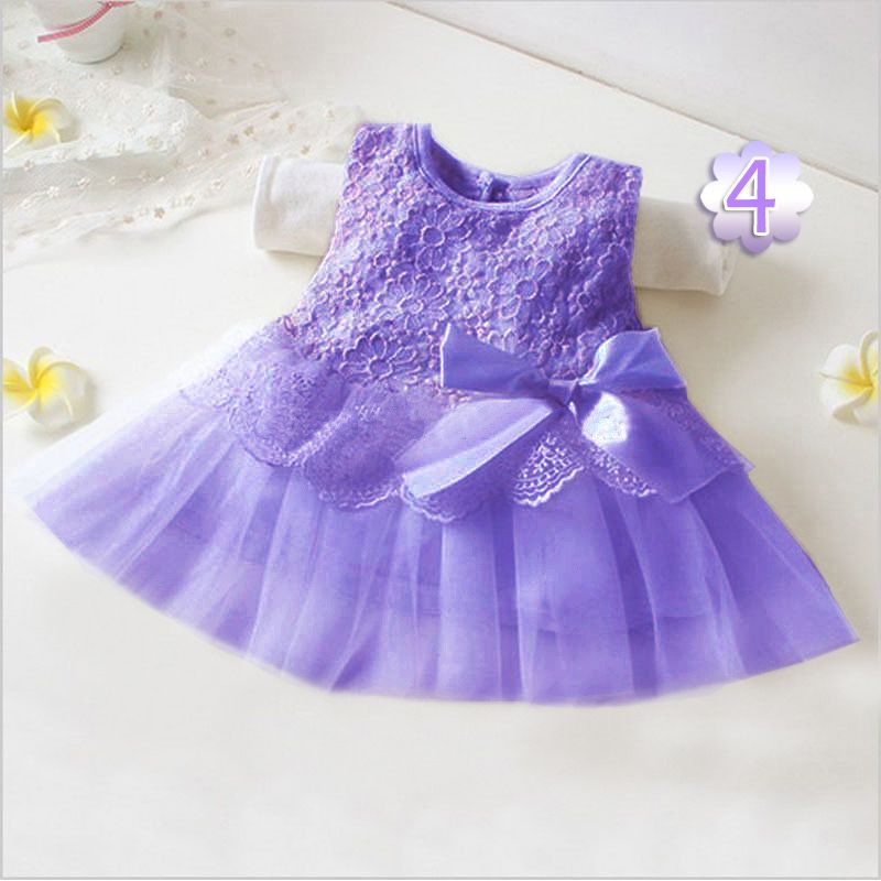 bd41ab5e3f2 Click to Buy    Sweet Flower round collar Sleeveless Pure Color Infant Baby  Girls Summer Dress Toddler Girls Dresses Clothing tutu Kids Clothes   Affiliate