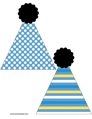 Hats from Mickey Mickey First Birthday Printable Photo Booth Set ...