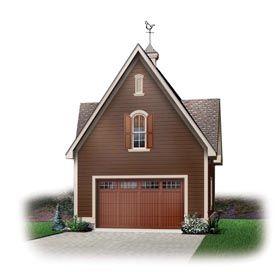 1 Car Garage Plan Number 65334 #garageplans