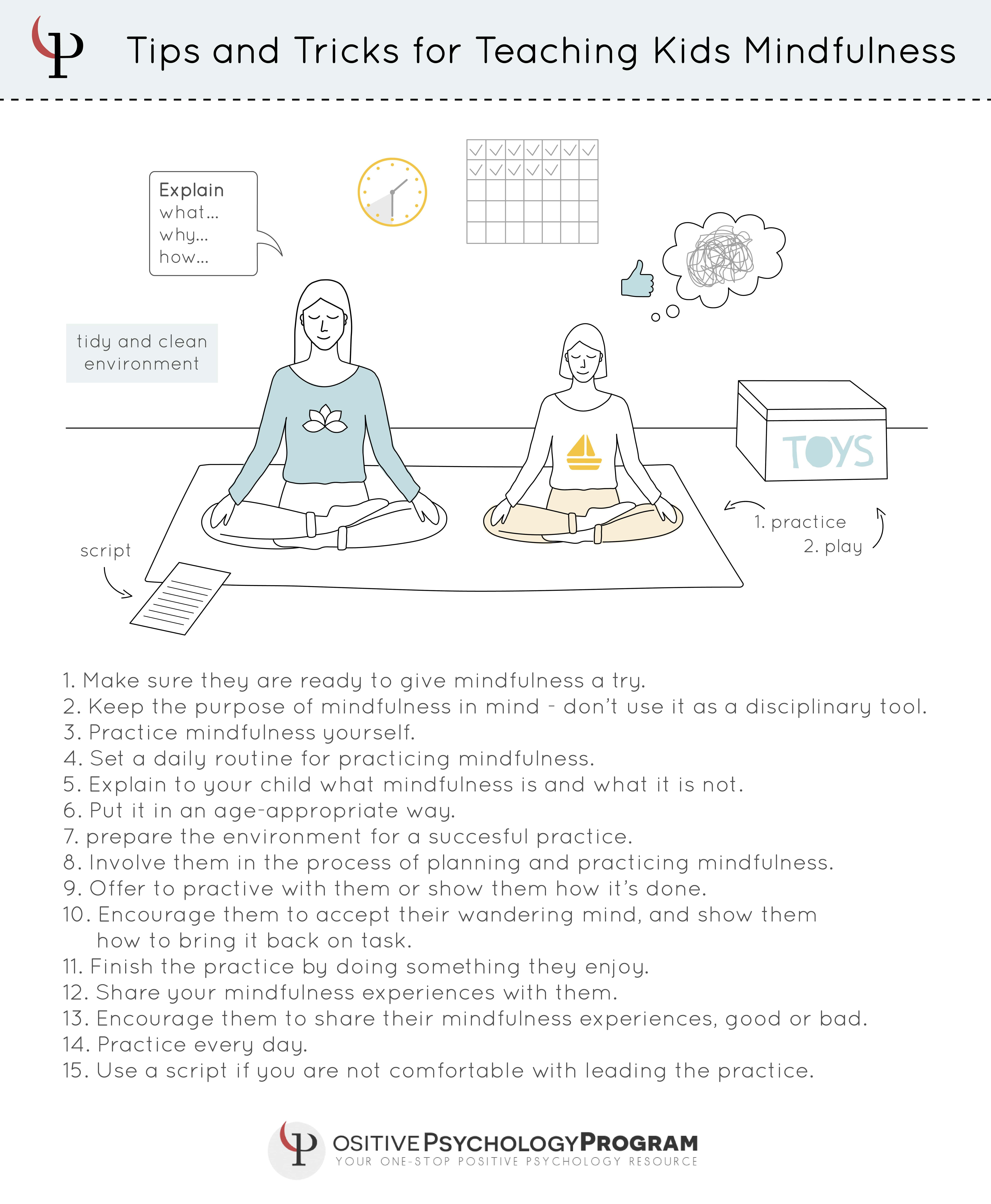Tips And Tricks For Teaching Kids Mindfulness Infographic