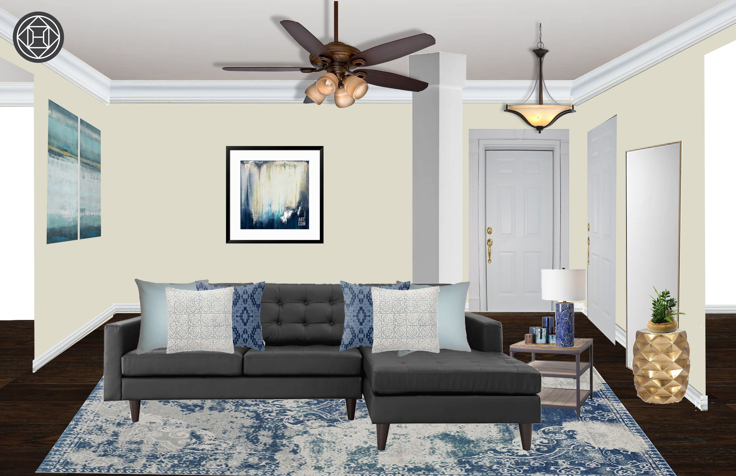 Modern, Classic, Traditional Living Room Design by Havenly Interior ...