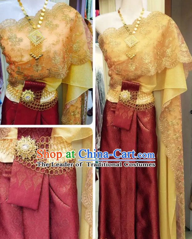 0ed3b86a9a Top Traditional National Thai Garment Dress Thai Traditional Dress Dresses  Wedding Dress Complete Set for Women Girls Youth Kids Adults