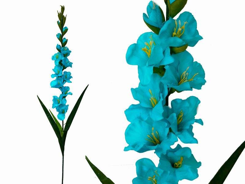 6 Gladiolus Stems Turquoise Efavormart Orange Wedding Flowers Flower Bouquet Wedding Silk Flower Petals
