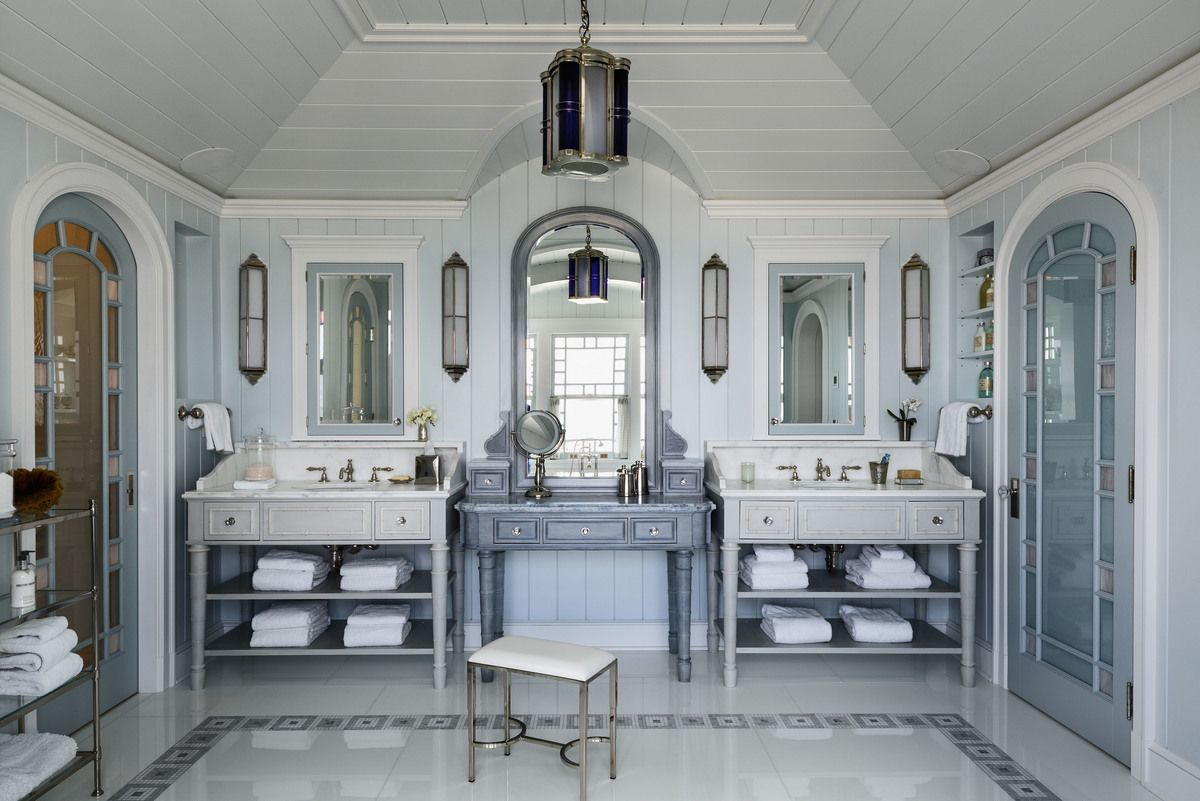 Master bedroom exterior door ideas  Coastal Bathroom in East Quogue NY by Robert AM Stern Architects