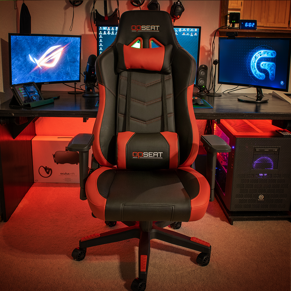 Grandmaster Red Pc Gaming Chair Opseat Gaming Chair Farmhouse Table Chairs Leather Chair Makeover