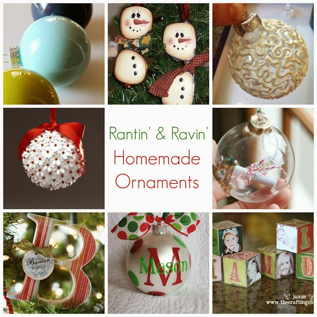 Rantin' & Ravin': HOMEMADE ORNAMENTS!!!