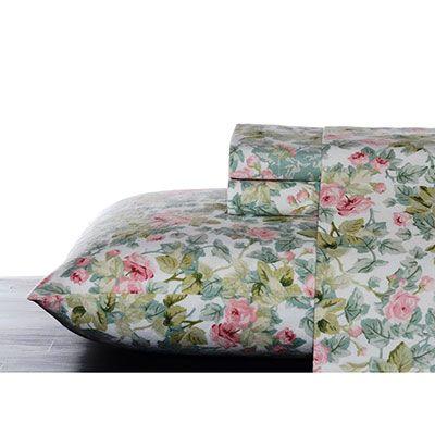 Laura Ashley Cottage Rose Flannel Sheet Set Decoracion De Unas