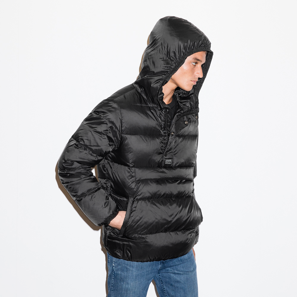 Mens CONS Packable Down Jacket Black | Whether The Weather | Pinterest