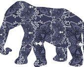 elephant, elephant painting, elephant wall art, modern, elephant art poster abstract,contemporary art poster, black and white, wild animal. $17.00, via Etsy.
