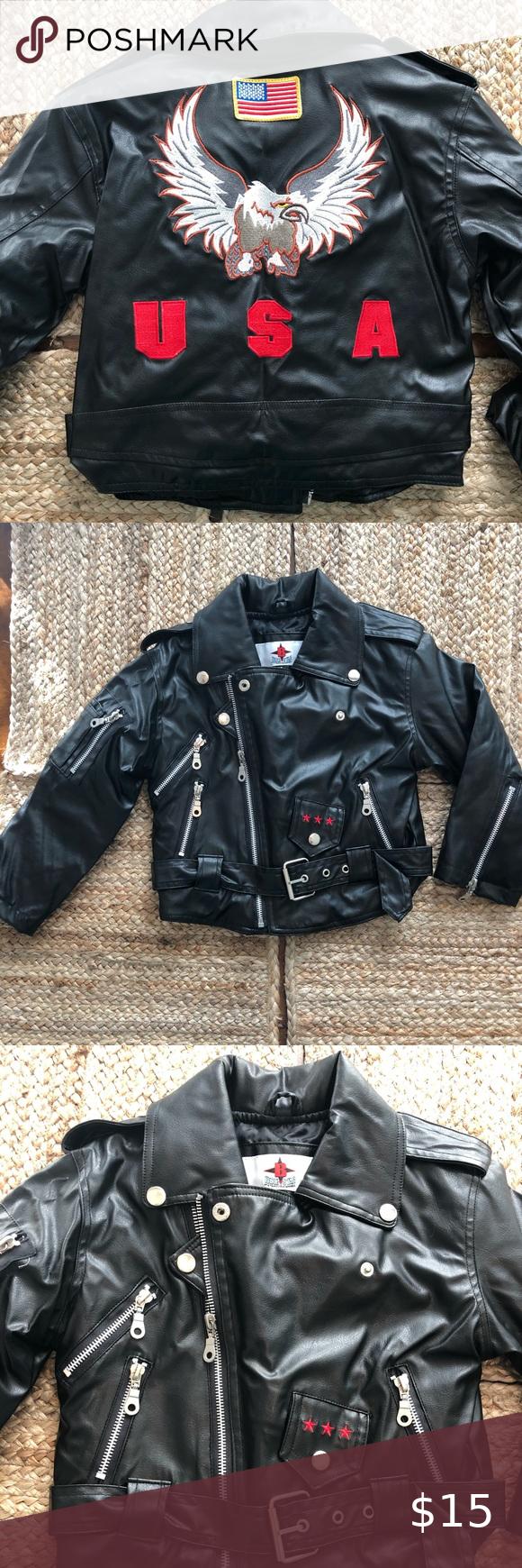 Bike Star Kid Leather Jacket Size 3t Kids Leather Jackets Leather Jacket Jackets [ 1740 x 580 Pixel ]