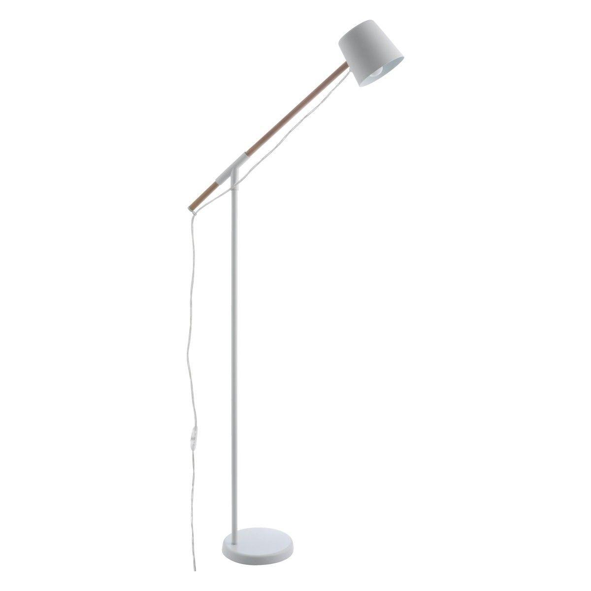 PEETA White metal and wood floor lamp | Floor lamp, Metals and Woods