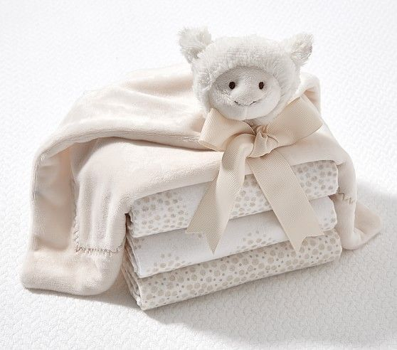 Plush Thumbie & Flannel Swaddle Set | Swaddle sets, New ...