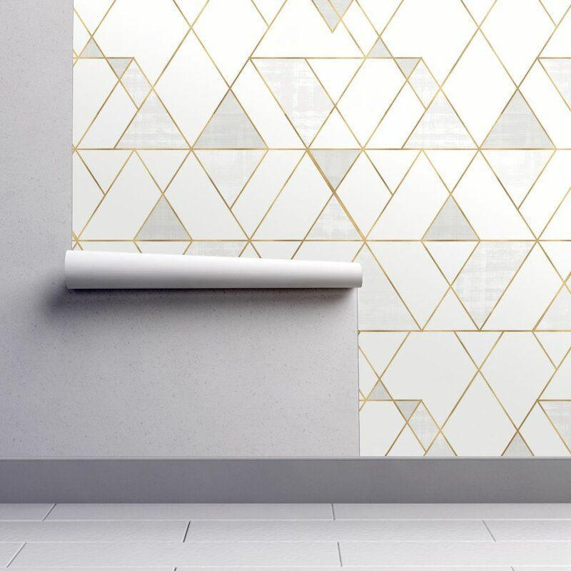 Clarkson Geometric Removable Peel And Stick Wallpaper Panel Peel And Stick Wallpaper Wallpaper Panels Self Adhesive Wallpaper