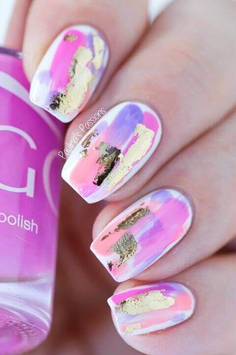50 Ideas Para Pintar Uñas De Color Rosa Decoración De Uñas Nail