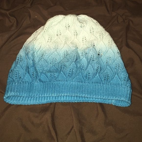 Knit ombré lightweight beanie. Not heavy, perfect for spring or summer too. Ombré from teal to white. Fits average adult female with room to stretch. No snags, perfect condition. Accessories Hats