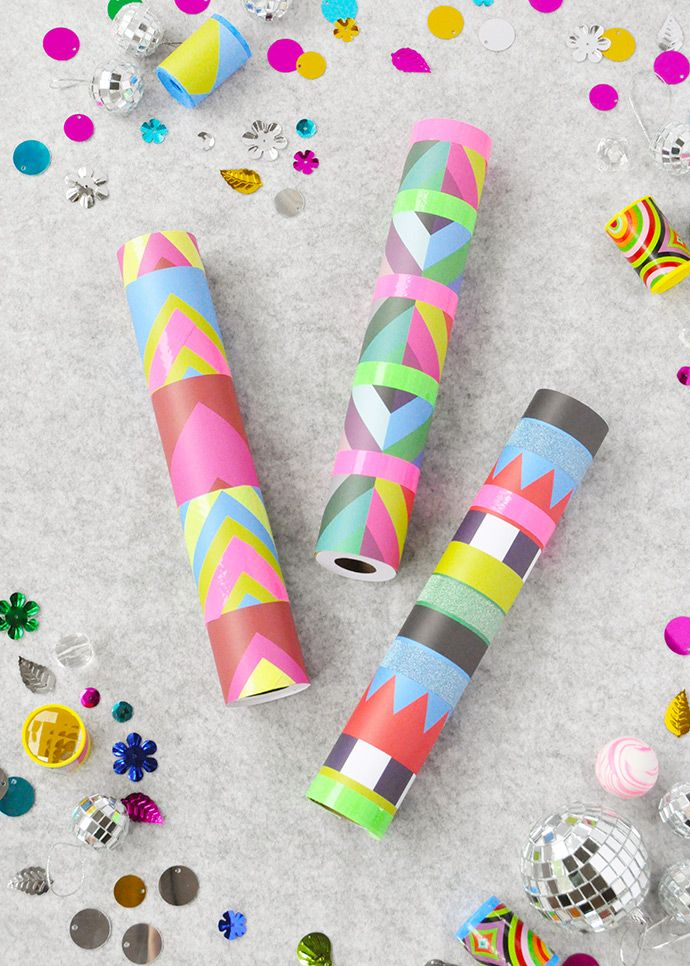 Make Your Own Kaleidoscope Recycle Paper Craft And Kids Craft