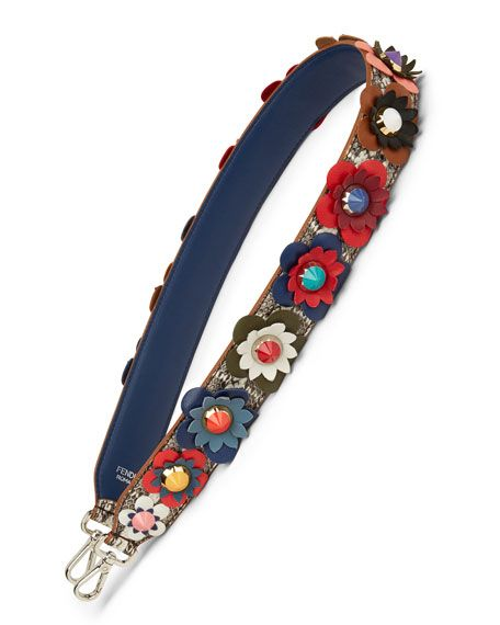 Fendi snakeskin handbag strap with studded flowers  b58d83375a702