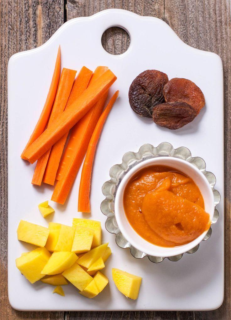 Carrot mango apricot baby food puree recipe baby