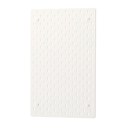 IKEA - SKÅDIS, Tablero perforado, Si usas el tablero como separador en un escritorio o en una combinación de almacenaje ALGOT independiente, podrás aprovecharlo por ambos lados.Elige los accesorios de la serie SKÅDIS que se adapten mejor a tus necesidades y crea una combinación de almacenaje personalizada.