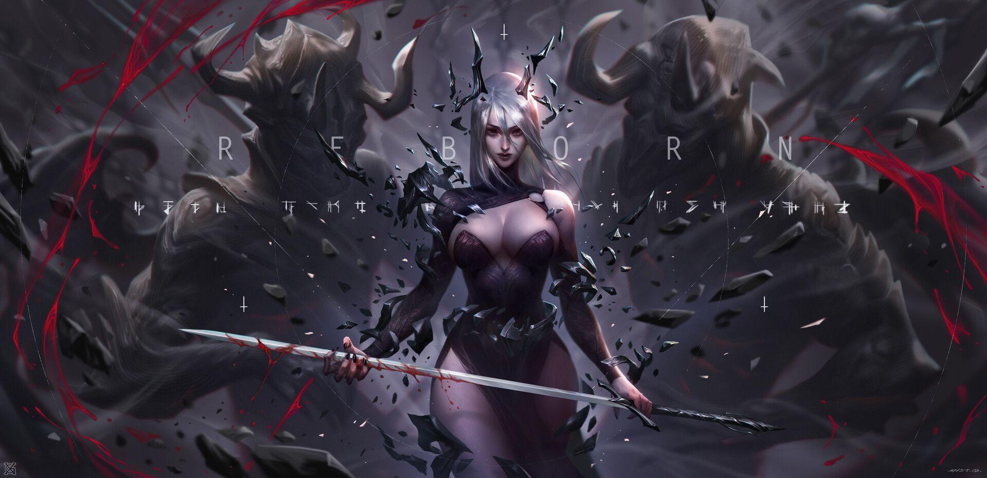 Sacrifice heart, mist XG on ArtStation at https://www