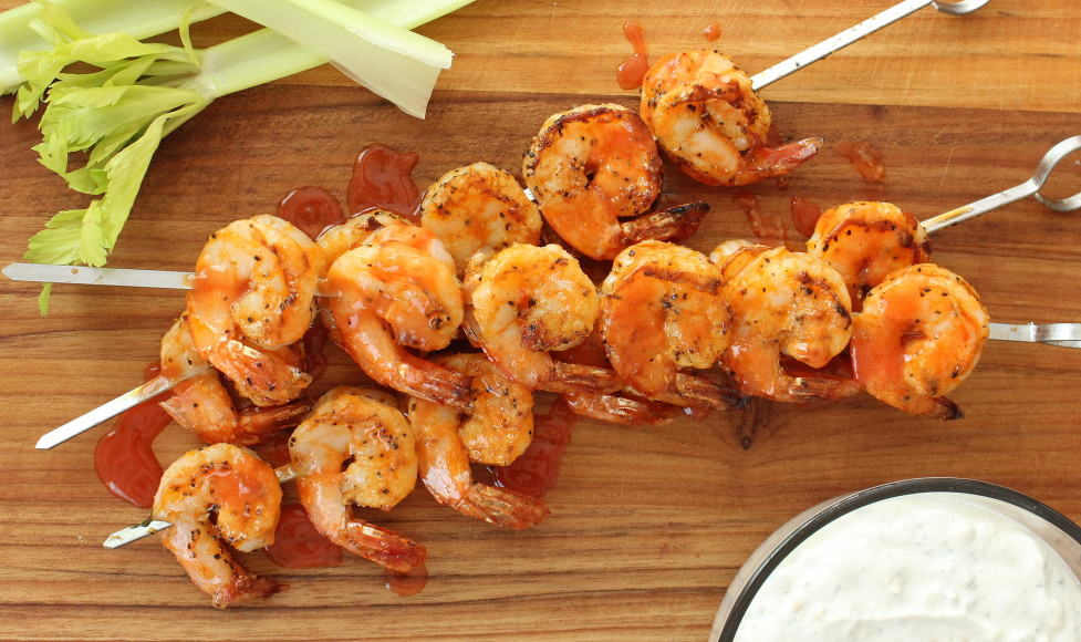 Grilled Buffalo Shrimp with Blue Cheese | How To Feed A Loon