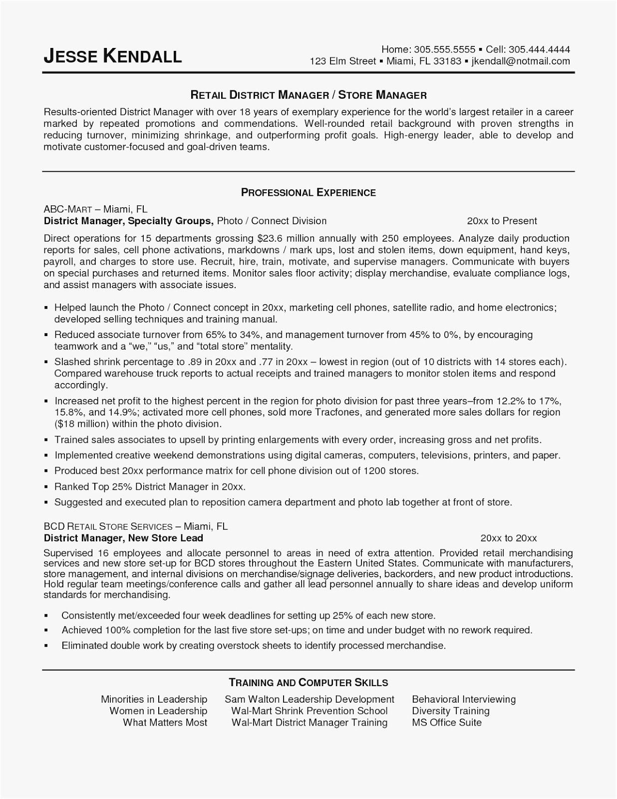 Retail Manager Cover Letter Examples Beste