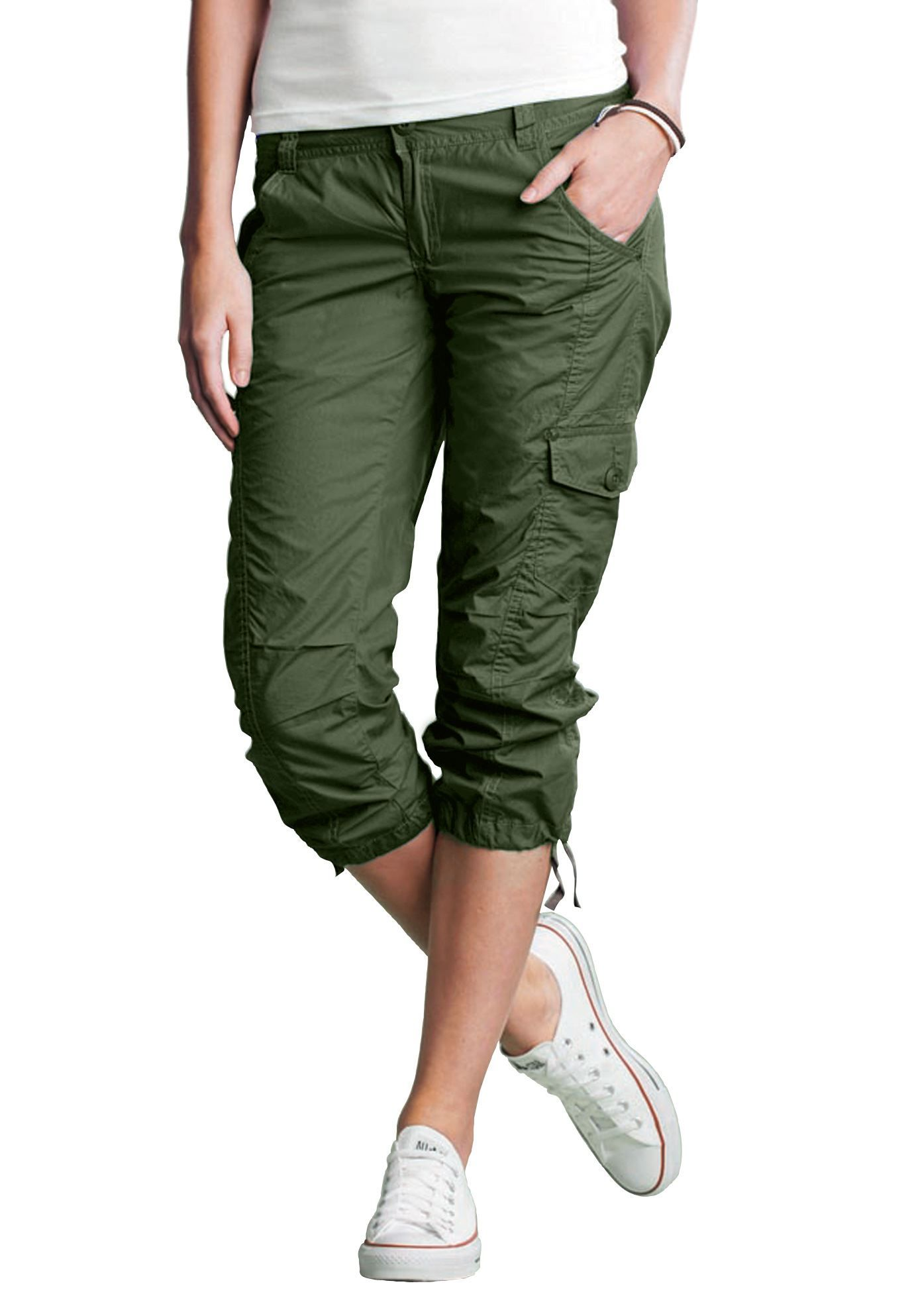 Plus size cargo capris that are functional, comfortable and ...