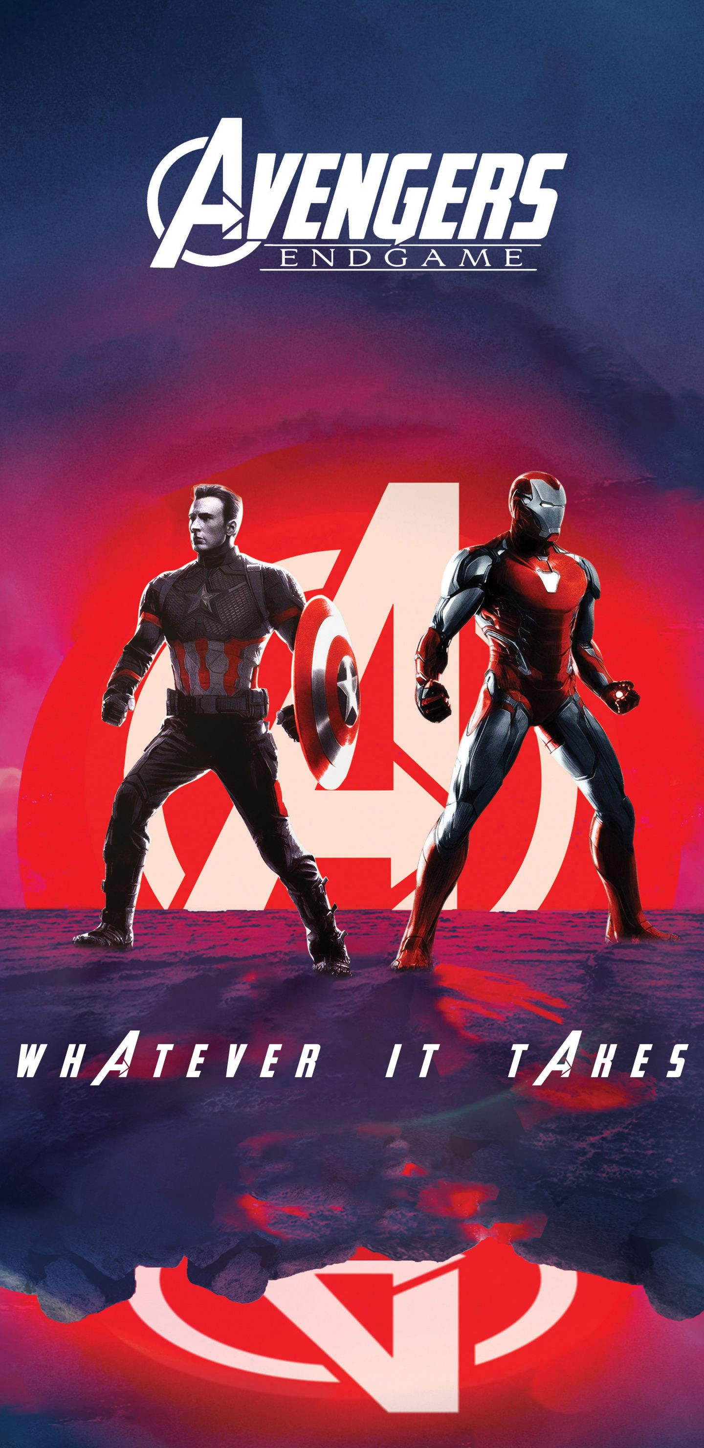 1440x2960 Captain America Iron Man Avengers Endgame