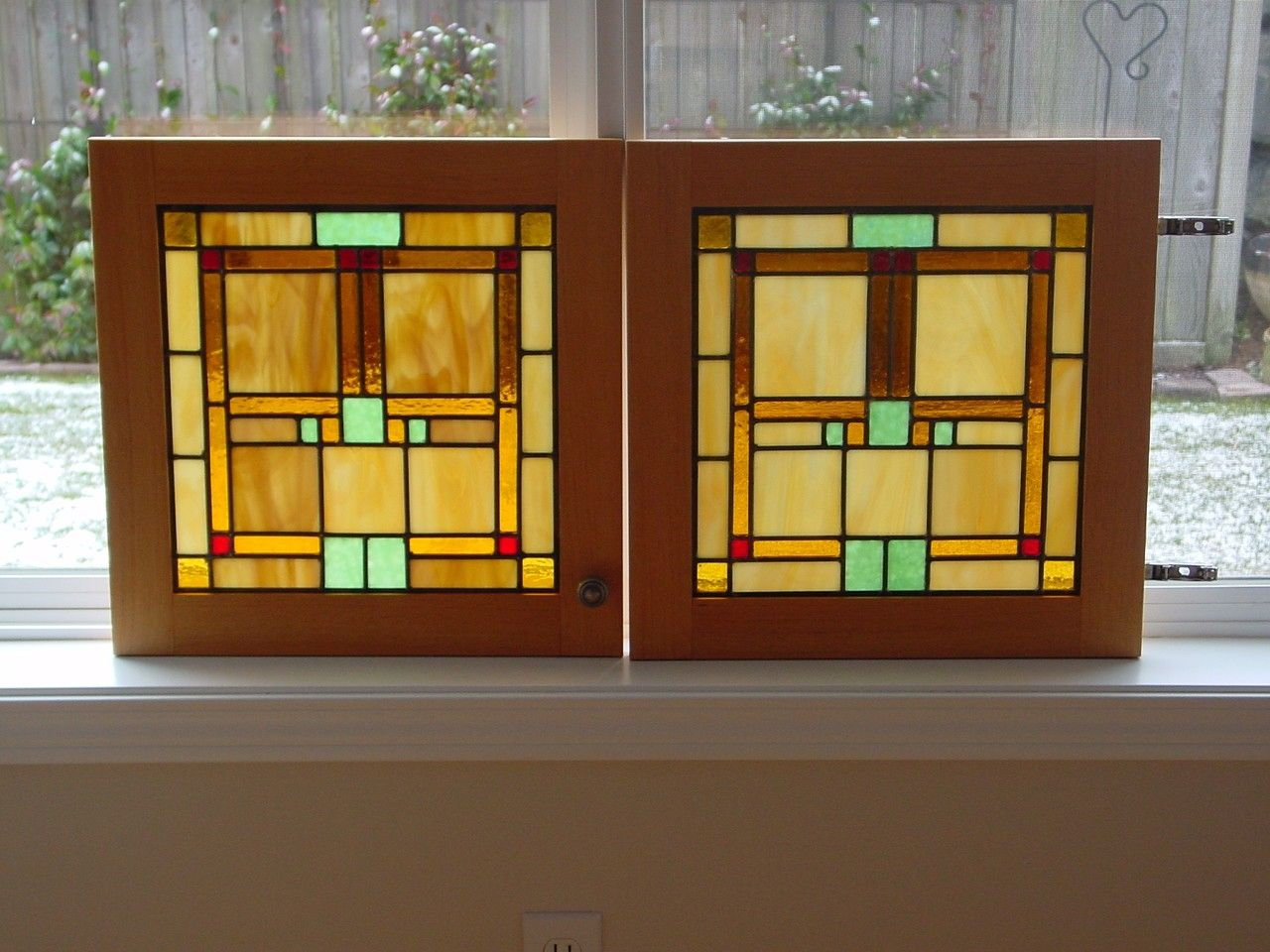 Stained Glass Kitchen Cabinet Doors Handmade Custom Door Panels By Chapman