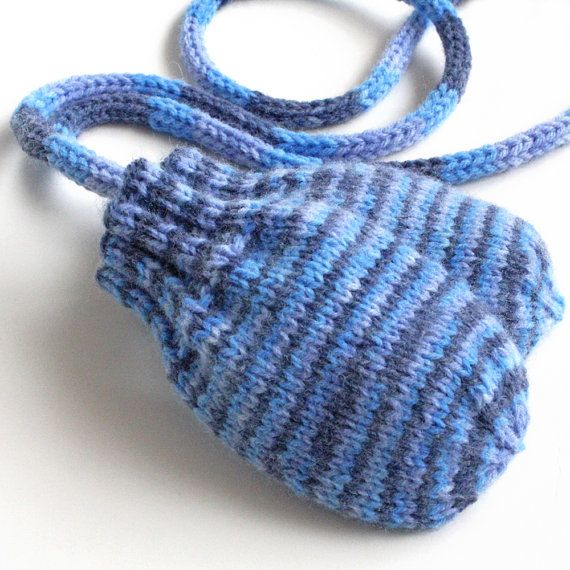 Baby Mittens With Coat String . Thumbless Baby Paws . Handknit ...