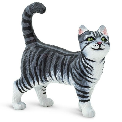 Safari Ltd Grey Tabby Cat Grey tabby cats, Tabby cat, Tabby