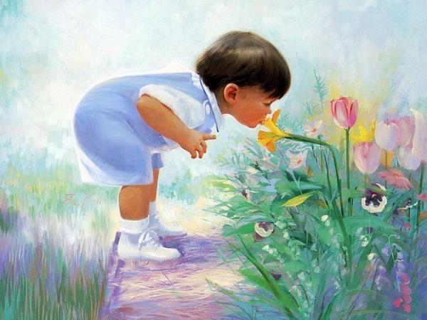 Bambini Dipinti ~ Donald zolan 1937 u2013 2009 american dipinti e bambini