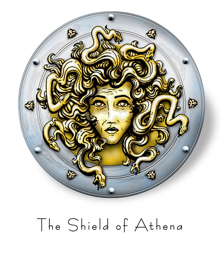 Shield Of Athena Inkdom Pinterest Tattoo