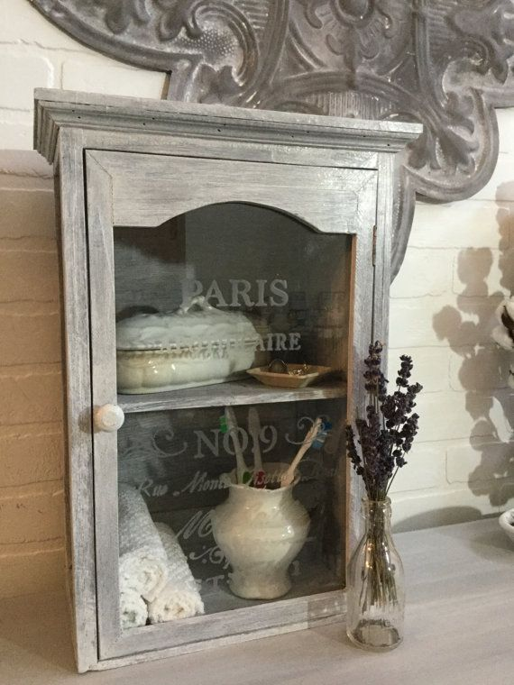 Wall Cabinet French Apothecary Bathroom Or Kitchen Cabinet Storage Cabinet With Shelves French Country Shabby Chic Cottage Decor French Country Bathroom Decor Wall Cabinet