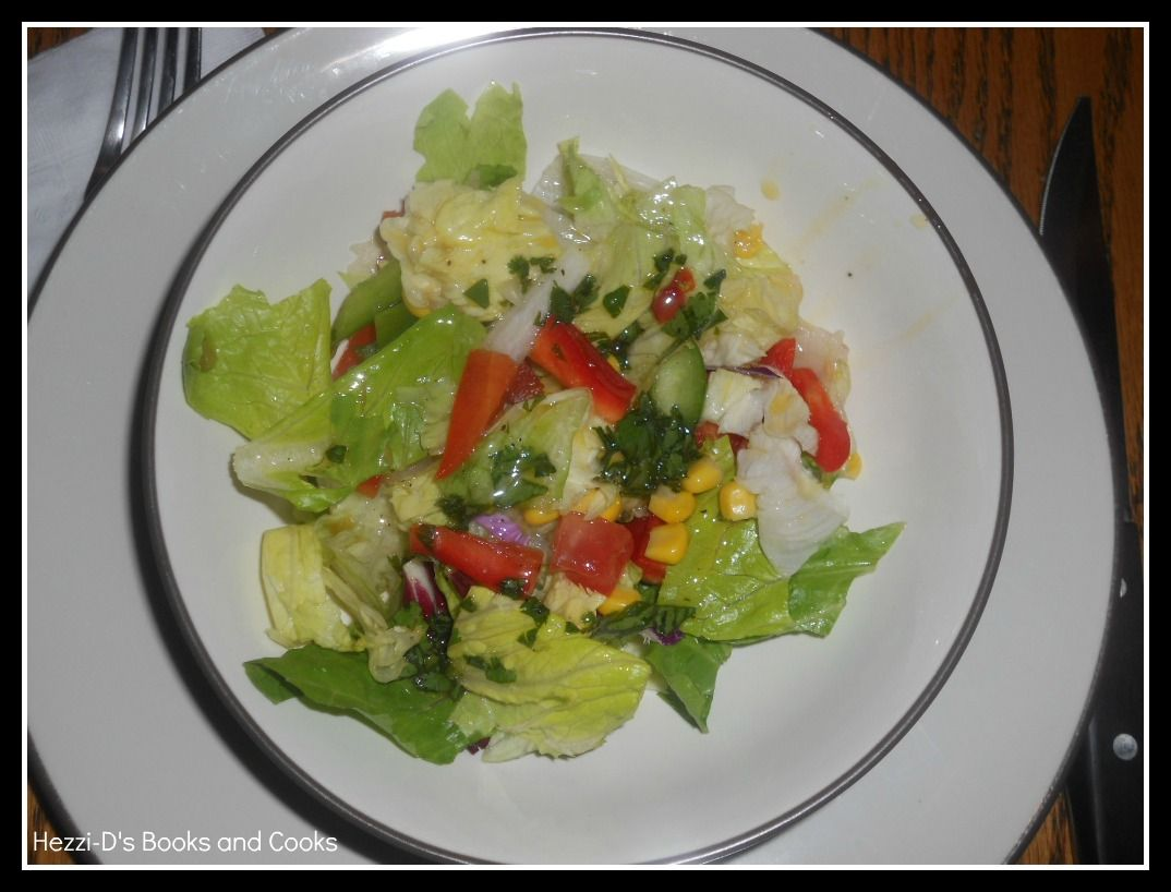 Hezzi-D's Books and Cooks: Mexican Side Salad with Cilantro Lime Dressing