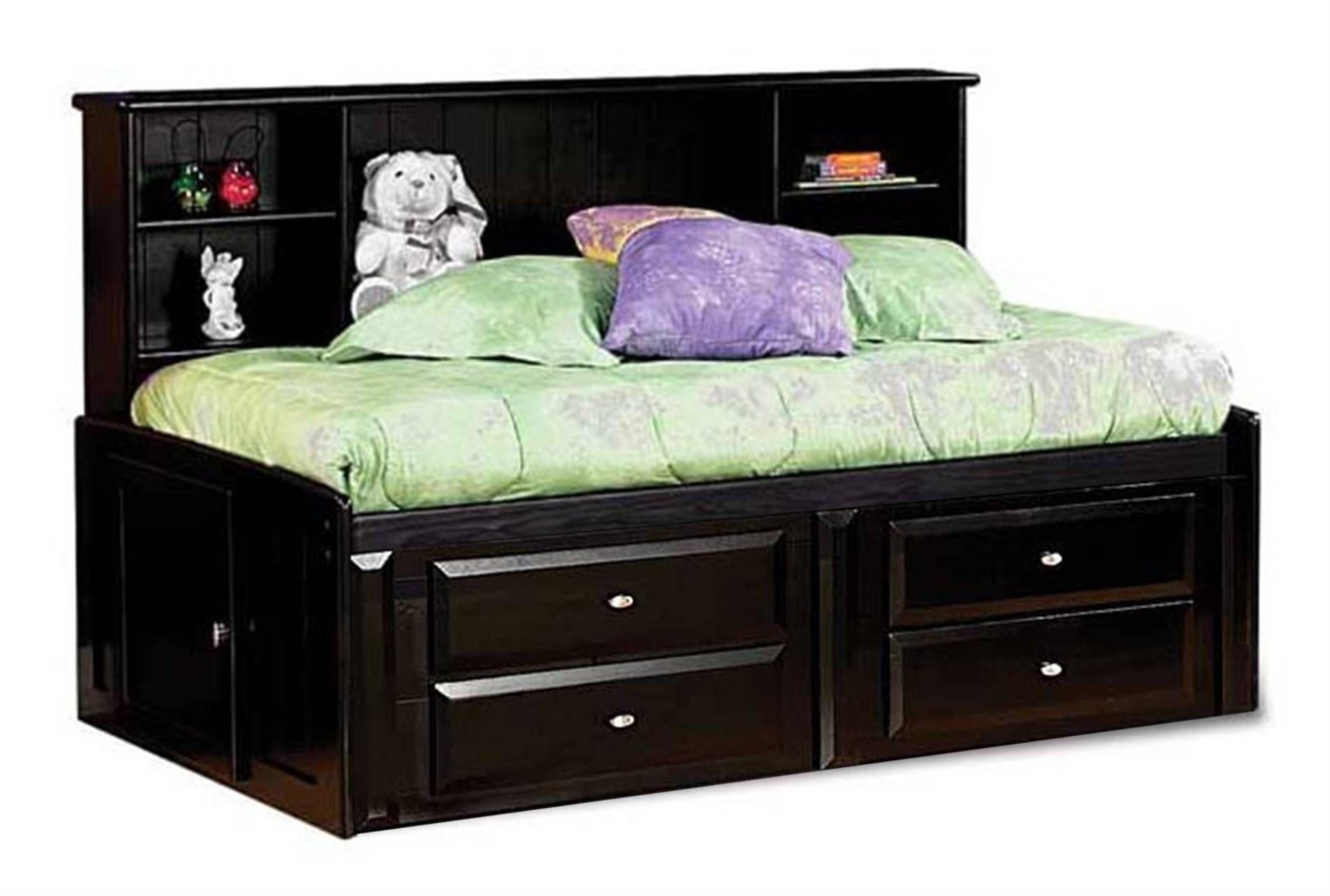 Laguna Blk Twin Rmsv 4drws Twin Storage Bed Storage Bed