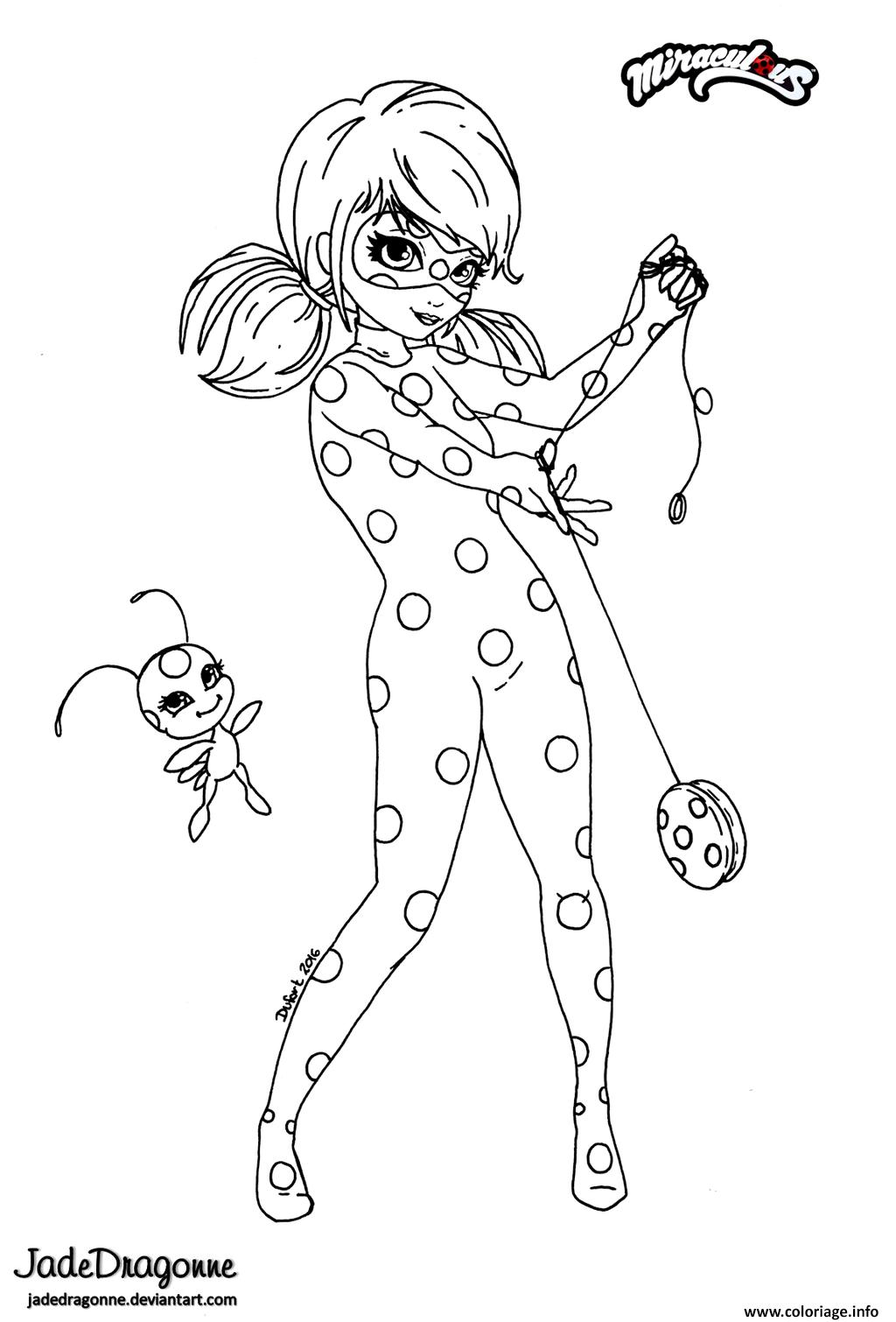 Coloriage Miraculous Ladybug Anime Par Jade à Imprimer Masks