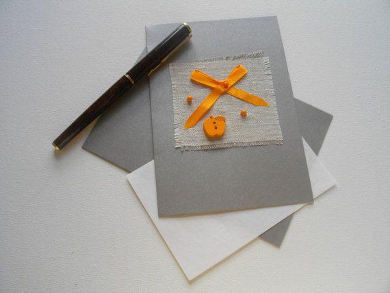 Kaart 'All Orange' van FromHelloToGoodbye op Etsy