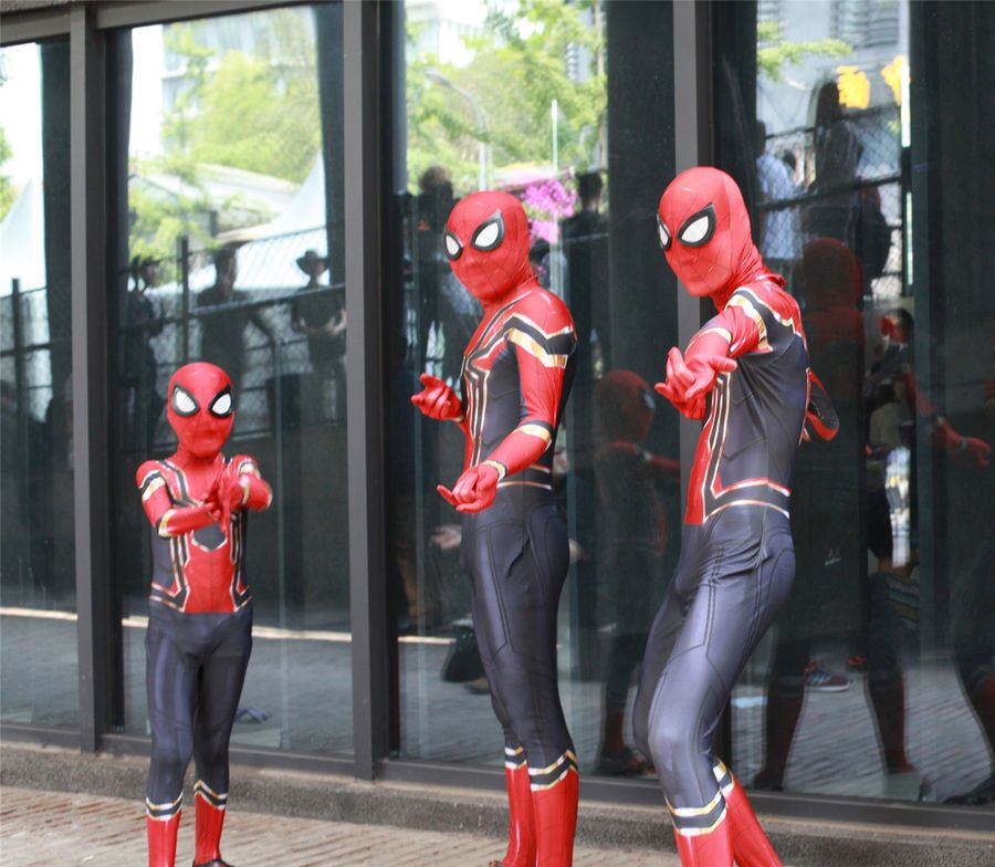 Iron Spiderman Spider-Man Homecoming Halloween Cosplay Costume For Adult//Kids