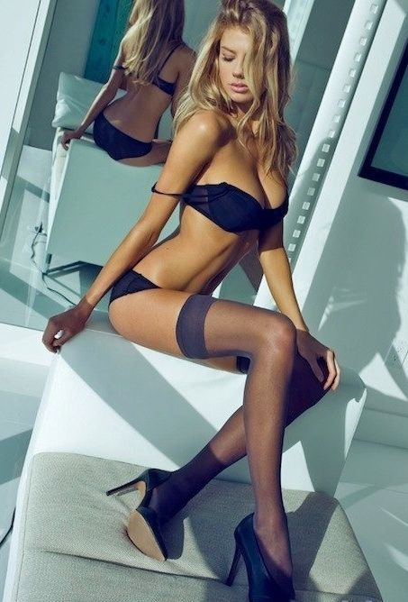 Sexy lingerie and high heels