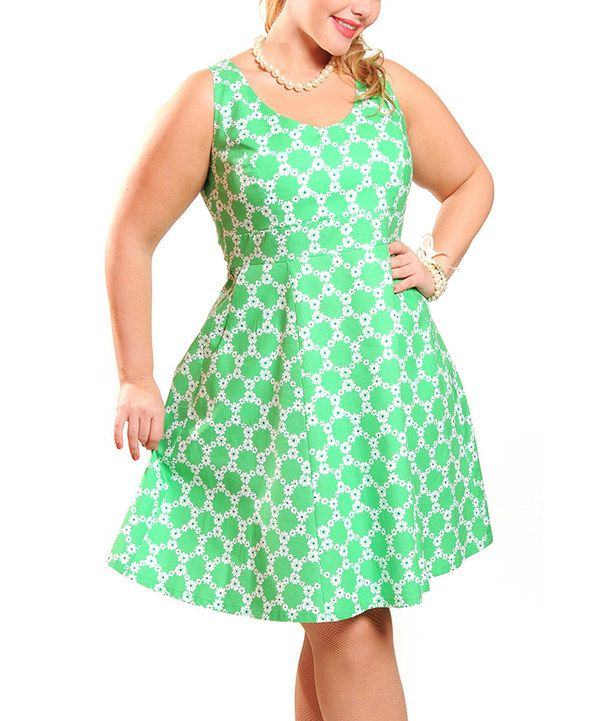 Look what I found on #zulily! Cherry Velvet Mint Floral Brigitte Dress - Women by Cherry Velvet #zulilyfinds