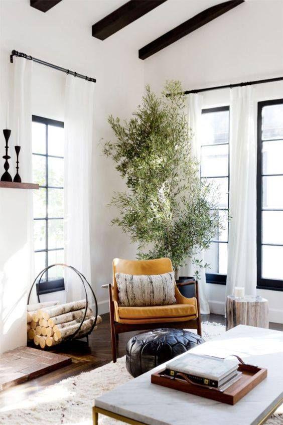 Pin by ashley project allen designs decorating tips home decor interior design blogger  diy on living room ideas pinterest black windows also rh