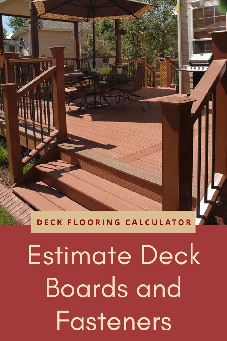 Deck Flooring Calculator and Price Estimator Deck