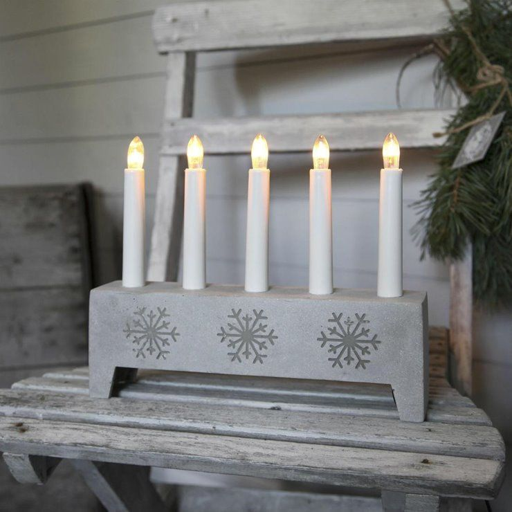Snowflake Chandelier Polypierre Gris Flocon 5 Bougies A Ampoules 22cm Gris Clair Xmas Living Glass In 2020 Candles Xmas Snowflakes