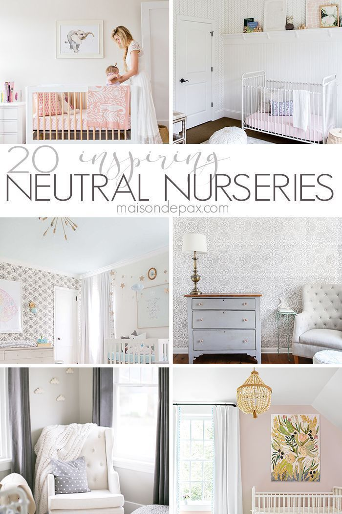 Gender Neutral Nursery Ideas | Looking for neutral nursery decorating ideas? These gorgeous nurseries leave you swooning with their subtle, soothing baby decor. #genderneutralnursery #nursery #babynursery #momandbaby #maisondepax