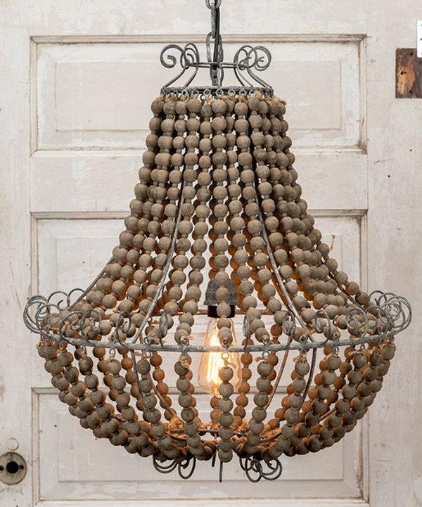 Look at this Vintage Metal Wood Chandelier on #zulily today - kronleuchter für badezimmer