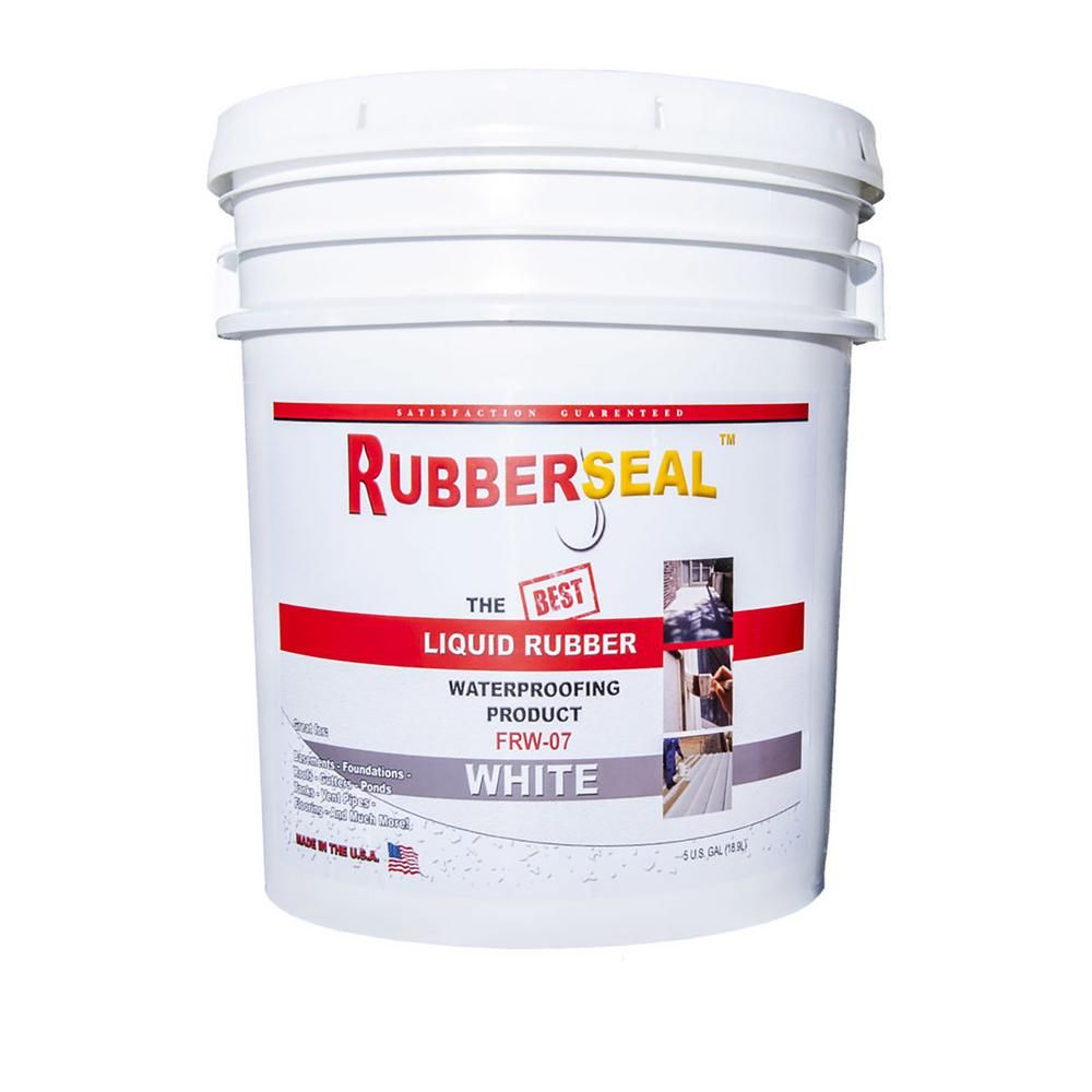 Rubberseal 5 Gal White Liquid Rubber 10005081 The Home Depot Liquid Rubber Rubber Roof Coating Volatile Organic Compounds