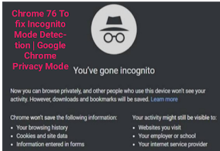 About Chorme 76 Google Was Facing A Big Problem With The Incognito Mode In Chrome After Facing A Worldwide Problem Over Incognito Google Chrome Fix It